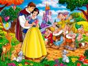 Disney Valentines Day Snow White and the Seven Dwarfs Wallpaper