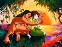 Disney Valentines Day Tarzan and Girlfriend Wallpaper
