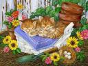 Easter Kittens Illustration by Jane Maday