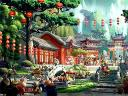 Kung Fu Panda Village Marketplace Fine Art