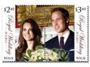 Royal Wedding England Postage Stamp from the Pacific Island of Niue New Zealand