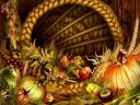 Thanksgiving Day Horn of Plenty Wallpaper