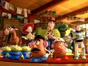 Toy Story 3 Gang Toys in Day Center Wallpaper