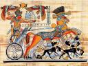 Tutankhamun on his Chariot Wallpaper