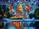 Capitol at Night by Leonid Afremov