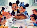 Disney Thanksgiving inspired by Painting of Norman Rockwell