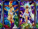 Easter Jesus Christ Stained Glass Wallpaper