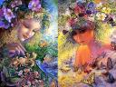 Honeysuckle and Flora by Josephine Wall