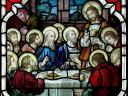 Maundy Thursday The Last Supper Stained Glass Window St. Rocco Church Avondale Pennsylvania