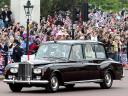 Royal Wedding England  Kate Middleton with her Father in Rolls Royce Phantom VI