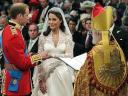 Royal Wedding England Prince William and Catherine Middleton exchanging Rings at Westminster Abbey London