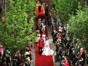 Royal Wedding England Procession of Prince William and Catherine Duchess of Cambridge at Westminster Abbey London