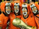 World Cup 2010 Champion Netherlands Supporters with Replica of Trophy