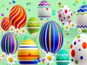 Abstract Easter Eggs Wallpaper