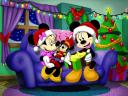 Disney Christmas Card Mickey Mouse receives Gift
