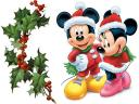 Disney Christmas Mickey and Minnie Mouse Greeting Card