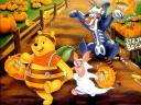 Halloween Disney Teddy Pooh with Pumpkin