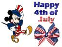 Happy 4th of July Mickey Mouse Greeting Card