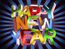 Happy New  Year in Dazzling Colours Wallpaper