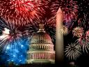 Independence Day of America Fireworks in Washington Wallpaper