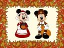 Thanksgiving Greetings with Minnie and Mickey Mouse