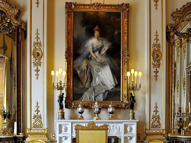Buckingham Palace White Drawing Room painting of Queen Alexandra London England - A painting of Queen Alexandra, wife of Edward VII, by Francois Flameng in the White Drawing Room of the Buckingham Palace, London, England, which will be used during the wedding reception of Prince William and Kate Middleton on 29 April 2011. - , Buckingham, palace, palaces, white, drawing, room, rooms, painting, paintings, queen, queens, Alexandra, London, England, place, places, show, shows, travel, travel, tour, tours, celebrities, celebrity, ceremony, ceremonies, event, events, entertainment, entertainments, wife, wifes, Edward, EdwardVII, Francois, Flameng, wedding, reception, receptions, prince, princes, William, Kate, Middleton, April, 2011 - A painting of Queen Alexandra, wife of Edward VII, by Francois Flameng in the White Drawing Room of the Buckingham Palace, London, England, which will be used during the wedding reception of Prince William and Kate Middleton on 29 April 2011. Solve free online Buckingham Palace White Drawing Room painting of Queen Alexandra London England puzzle games or send Buckingham Palace White Drawing Room painting of Queen Alexandra London England puzzle game greeting ecards  from puzzles-games.eu.. Buckingham Palace White Drawing Room painting of Queen Alexandra London England puzzle, puzzles, puzzles games, puzzles-games.eu, puzzle games, online puzzle games, free puzzle games, free online puzzle games, Buckingham Palace White Drawing Room painting of Queen Alexandra London England free puzzle game, Buckingham Palace White Drawing Room painting of Queen Alexandra London England online puzzle game, jigsaw puzzles, Buckingham Palace White Drawing Room painting of Queen Alexandra London England jigsaw puzzle, jigsaw puzzle games, jigsaw puzzles games, Buckingham Palace White Drawing Room painting of Queen Alexandra London England puzzle game ecard, puzzles games ecards, Buckingham Palace White Drawing Room painting of Queen Alexandra London England puzzle game greeting ecard