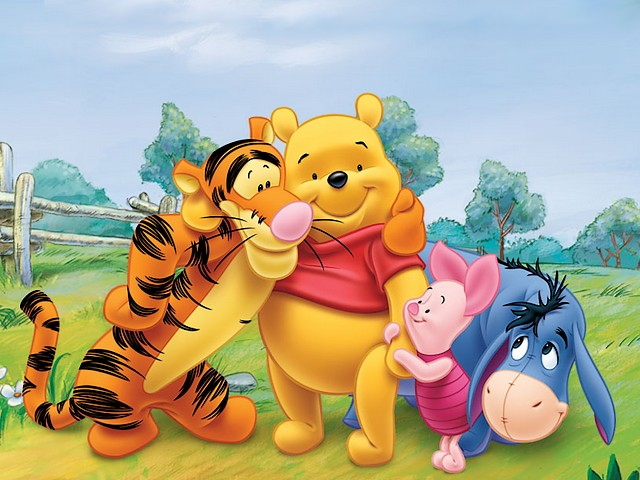 8eede1fc03ec Disney Summer Winnie the Pooh and Friends Wallpaper - Wallpaper with Winnie  the Pooh and his