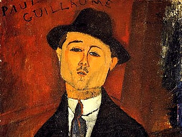 Amadeo Modigliani Paul Guillaume Novo Pilota - A fragment from the portrait of the art dealer and collector 'Paul Guillaume, Novo Pilota' (1915, oil on cardboard mounted on cradled plywood, Musee de l'Orangerie, Paris, France), who was introduced to Amadeo Modigliani by  Max Jacob in 1915. He is Modigliani's art dealer until 1916, when he produces one painting every week and exhibits 15 paintings and 3 sculptures at the studio of Emile Lejeune in Paris. - , Amadeo, Modigliani, Paul, Guillaume, Novo, Pilota, art, arts, painter, painters, artist, artists, sculptor, sculptors, Expressionist, Expressionists, fragment, fragments, portrait, portraits, dealer, dealers, collector, collectors, 1915, oil, cardboard, cardboards, cradled, plywood, Musee, museum, l'Orangerie, Paris, France, Max, Jacob, 1916, painting, paintings, week, weeks, sculptures, sculpture, studio, studios, Emile, Lejeune - A fragment from the portrait of the art dealer and collector 'Paul Guillaume, Novo Pilota' (1915, oil on cardboard mounted on cradled plywood, Musee de l'Orangerie, Paris, France), who was introduced to Amadeo Modigliani by  Max Jacob in 1915. He is Modigliani's art dealer until 1916, when he produces one painting every week and exhibits 15 paintings and 3 sculptures at the studio of Emile Lejeune in Paris. Solve free online Amadeo Modigliani Paul Guillaume Novo Pilota puzzle games or send Amadeo Modigliani Paul Guillaume Novo Pilota puzzle game greeting ecards  from puzzles-games.eu.. Amadeo Modigliani Paul Guillaume Novo Pilota puzzle, puzzles, puzzles games, puzzles-games.eu, puzzle games, online puzzle games, free puzzle games, free online puzzle games, Amadeo Modigliani Paul Guillaume Novo Pilota free puzzle game, Amadeo Modigliani Paul Guillaume Novo Pilota online puzzle game, jigsaw puzzles, Amadeo Modigliani Paul Guillaume Novo Pilota jigsaw puzzle, jigsaw puzzle games, jigsaw puzzles games, Amadeo Modigliani Paul Guillaume Novo Pilota puzzle game ecard, puzzles games ecards, Amadeo Modigliani Paul Guillaume Novo Pilota puzzle game greeting ecard