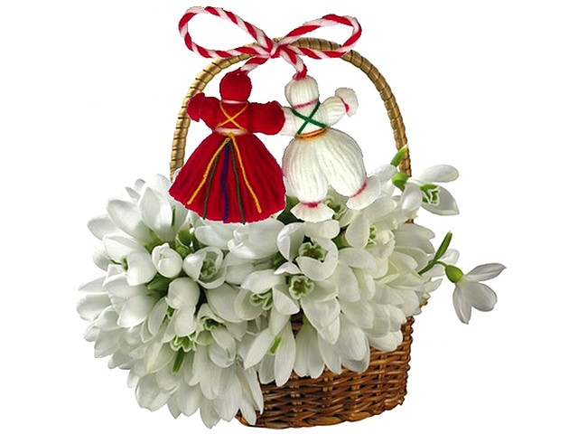 Martenitsa with Basket of Snowdrops - Basket of beautiful snowdrops decorated with martenitsa, a small adornment made of white and red yarn, used in Bulgaria as a greeting for the upcoming spring at the first day of March. - , martenitsa, martenitsi, basket, baskets, snowdrops, snowdrop, holidays, holiday, festival, festivals, celebrations, celebration, beautiful, adornment, adornments, white, red, yarn, yarns, Bulgaria, greeting, greetings, upcoming, spring, springs, first, day, days, March - Basket of beautiful snowdrops decorated with martenitsa, a small adornment made of white and red yarn, used in Bulgaria as a greeting for the upcoming spring at the first day of March. Solve free online Martenitsa with Basket of Snowdrops puzzle games or send Martenitsa with Basket of Snowdrops puzzle game greeting ecards  from puzzles-games.eu.. Martenitsa with Basket of Snowdrops puzzle, puzzles, puzzles games, puzzles-games.eu, puzzle games, online puzzle games, free puzzle games, free online puzzle games, Martenitsa with Basket of Snowdrops free puzzle game, Martenitsa with Basket of Snowdrops online puzzle game, jigsaw puzzles, Martenitsa with Basket of Snowdrops jigsaw puzzle, jigsaw puzzle games, jigsaw puzzles games, Martenitsa with Basket of Snowdrops puzzle game ecard, puzzles games ecards, Martenitsa with Basket of Snowdrops puzzle game greeting ecard