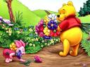 Disney Spring Piglet and Pooh Wallpaper