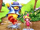 Disney Summer Winnie the Pooh and Piglet dancing in the Rain Wallpaper