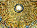 Dome Ceiling Basilica Saint Peter Vatican Rome Italy