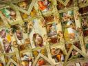 Sistine Chapel Michelangelo Frescoes on Ceiling Basilica Saint Peter Vatican Rome Italy