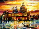 The Golden Skies of Venice by Leonid Afremov