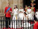 Royal Wedding England Prince William and Catherine Duchess of Cambridge are leaving Westminster Abbey London