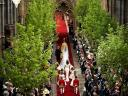 Royal Wedding England Procession with Bride at Westminster Abbey London